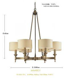 ¥1080 镀铜灯经典美式乡村吊灯餐厅餐桌吧台吊灯北欧式简约复古灯具新品-淘宝网