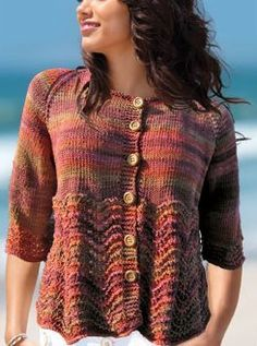 NobleKnits.com - Knit One Crochet Too Ty-Dy Bella Cardi Pattern