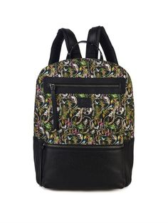 CHRISTIAN LOUBOUTIN Aliosha printed-canvas and leather backpack