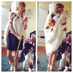 My homemade San cosplay from Princess Mononoke! Sans Cosplay, Anime Cosplay, Couple Halloween Costumes, Halloween Ideas, Cosplay Ideas, Cosplay Costumes, Princess Mononoke Cosplay, Pax South, Play Dress