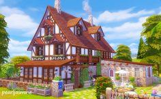 Ruby Red Simblr - pearljasminesims: ... Sims 4 Ps4, Sims 4 Game, Sims Cc, Sims 4 Cheats, The Sims 4 Lots, Sims 4 House Design, Cartoon House, Casas The Sims 4, Sims Building