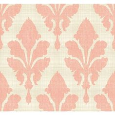 Stacy Garcia Paper Muse Beige and Coral Fleurish Wallpaper