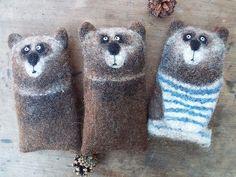 Валяные футляры для очков/смартфона #валяныевещи #валянаяигрушка #медведь #мимимишка #михалыч #очечник #сувенир #подарок #gift #souvenir #bear #caseiphone #cover #felting