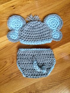 A personal favorite from my Etsy shop https://www.etsy.com/listing/227272280/newborn-crochet-baby-elephant-hat-and