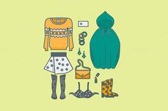 Female clothing things fashion by MarioMovement on Creative Market