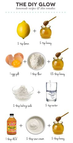 The DIY Glow // 4 go-to face mask recipes for: 1) Clearing Skin, 2) Fading Marks, 3) Exfoliating, & 4) Brightening