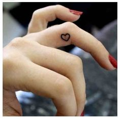 Tiny heart tattoo ❤ WANT