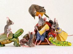 I'm a big fan of miniatures and my recent discovery is the work of Maggie Rudy. Maggie constructs model mice in miniature worlds whichshe photographs for children's books and her website Mouses Ho...