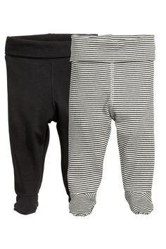 2-pack leggings with feet | H&M