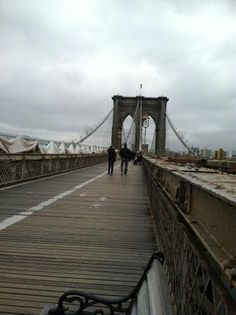 There is nothing that matches walking across the Brooklyn Bridge.