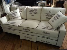 Here is a clever diagram of upholstery terminology!