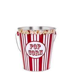 OVER THE POPS Eimer Popcorn    Ob süß oder salzig - nichts geht über eine große Portion Popcorn zum Vernaschen. Und weil es ganz frisch, warm und duftend am besten schmeckt, bereiten Sie es zu Hause auf dem Herd im nostalgisch gestylten Whirley Pop-Popcorn Topf zu und servieren es anschließend stilecht in den rot-weißen Over the Pops-Popcorntüten oder -Eimern. Enjoy it and have fun!    Größe: H...