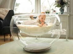 Live this Bubble Baby Bed Baby Necessities, Baby Essentials, Cool Baby Gadgets, Geek Gadgets, Electronics Gadgets, Newborn Schedule, Baby Box, Baby Furniture, Children Furniture