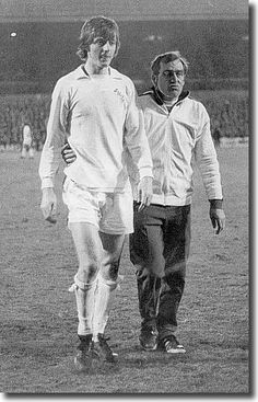 11th April 1973. Les Cocker leads Allan Clarke off following, his dismissal against Hajduk Split in the European Cup Winners Cup Semi Final 1st Leg. Clarke retaliated following a brutal tackle.from an Hadjuk player which saw him miss the second leg and final.