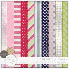A Heart Day's Work: Patterned Papers :: Papers :: Memory Scraps