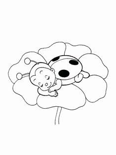 Ladybug Printable Coloring Pages . 24 Ladybug Printable Coloring Pages . Adult Coloring Page Ladybug Hand Drawn Image Digital Ladybug Coloring Page, Cute Coloring Pages, Flower Coloring Pages, Printable Coloring Pages, Adult Coloring Pages, Coloring Pages For Kids, Coloring Sheets, Coloring Books, Lady Bug