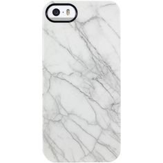Uncommon Uncommon Women's Marble White iPhone 5/5S TS Deflector Case -... ($19) ❤ liked on Polyvore featuring accessories, tech accessories, phone cases, phones, fillers, electronics and white