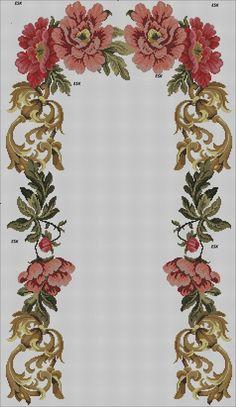 Cross Stitch Rose, Cross Stitch Flowers, Cross Stitch Embroidery, Cross Stitch Patterns, Prayer Rug, Macrame Patterns, Bargello, Baby Knitting Patterns, Crochet