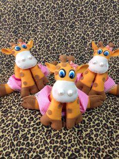 Girafa  Safari de Feltro www.facebook.com/atelienathpatch