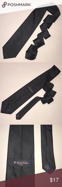BROOKS BROTHERS • All Black Tie Brooks Brothers all black tie  • length: ~57in  • gently used condition Brooks Brothers Accessories Ties