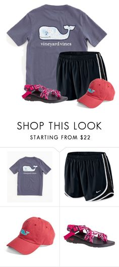 """""""~ pushing back the dark ~"""" by auburnlady ❤ liked on Polyvore featuring Vineyard Vines, NIKE and Chaco"""