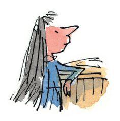 Matilda Wormwood from Roald Dahl's Matilda, illustrated by Quentin Blake Illustration Sketches, Children's Book Illustration, Character Illustration, Book Illustrations, Quentin Blake Illustrations, Fantastic Mr Fox, Art Deco Posters, Roald Dahl, Quick Sketch