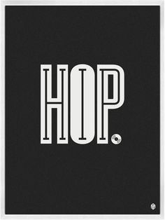 HIP HOP Poster - love the play between the words and letters. Clever.
