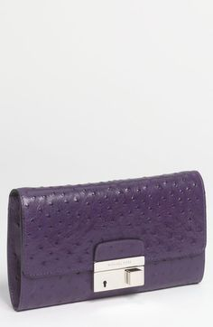 Michael Kors 'Gia' Ostrich Embossed Leather Clutch available at #Nordstrom