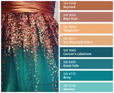 teal Bathroom Decor coral and teal bathroom accessories - Modern Teal Bathroom Accessories, Teal Bathroom Decor, Bathroom Colors, Color Schemes Colour Palettes, Colour Pallette, Color Combinations, Room Paint Colors, Paint Colors For Home, House Colors