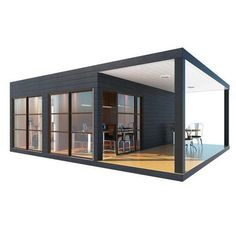 Shipping containers 329888741456206752 - 1 Bedroom Container Home With Covered Deck – SimpleTerra – Provider of Alternative Living Solutions Source by jeanxmarc Tall Windows, Windows And Doors, Tiny House, Small Houses, Diy Cabin, Casas Containers, Best Insulation, Shipping Container Homes, Shipping Containers