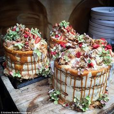 Undressed delicacy: Naked cakes are the newest 2015 trend, with brides going for barely ic...