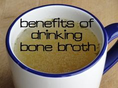 Why you should drink a mug of bone broth (homemade chicken stock) every day - fights colds, flu, osteoporosis, digestive ailments, and more :: via Kitchen Stewardship