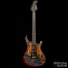 Knaggs Severn T2 Fire/Onyx available at distinctiveguitar.com.