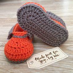 Crochet Baby Boy Sunday' Shoes Baby Shower Gift by StefaniaDA2015
