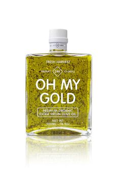 Olive oil infused with edible gold leaf #bling