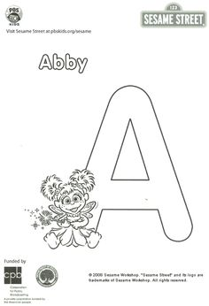 sesame street abby coloring pages - 1000 images about sesame street on pinterest sesame