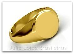 Anel em ouro 750/18k 9750/18k gold ring)