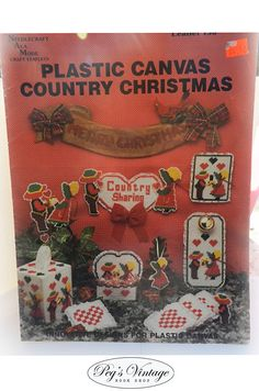 Plastic Canvas Country Christmas Plastic Canvas by Pegsbookshop, $3.00