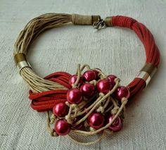 MT Necklaces Linen ~ Colares em fio de linho