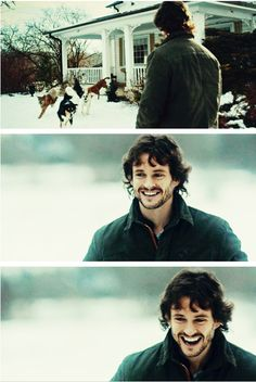 Hugh Dancy as Will Graham in Hannibal: The welcoming committee