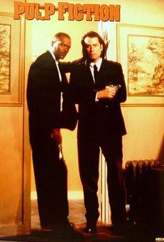 Pulp Fiction Jules and Vincent Portrait Movie Poster 24x36