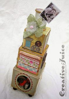 Creative Juice: Artist Trading Block - Sewing Tower