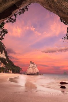 **Cathedral Cove, New Zealand, by Pawel Papis, on 500px.
