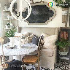 Corner shelf and chalkboard