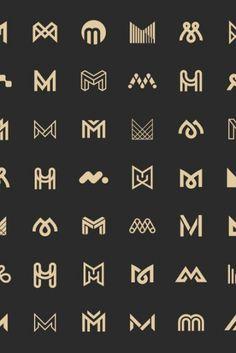 M Letter Logo Bundle Monogram Set M Letter Logo Bundle Monogram Set The logo includes: 70 of M letter monogram designs<br> Initials Logo, Monogram Logo, Letter Monogram, Monogram Design, Two Letter Logo, Typo Logo Design, Lettering Design, Branding Design, Corporate Logo Design