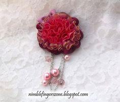 ribbon brooch