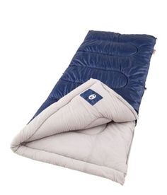 Coleman Brazos Cool Weather Sleeping Bag Lining tricot 100% Polyester Travel 20