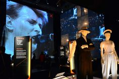 Atmosphere of the David Bowie's exhibition V in London