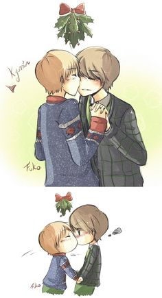 Kyumin - Christmas Kiss by Fuko-chan.deviantart.com on @deviantART
