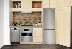 rawing heavily from European design, the counter-depth, handle-free Bosch 800 Series looks decidedly minimalist. And instead of the traditional compact fridge finishes, this premium lineup is available in tempered black or white glass or stainless steel with a glass overlay.